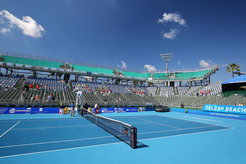 Estadio del centro del tenis de Delray Beach fotos de archivo libres de regalías