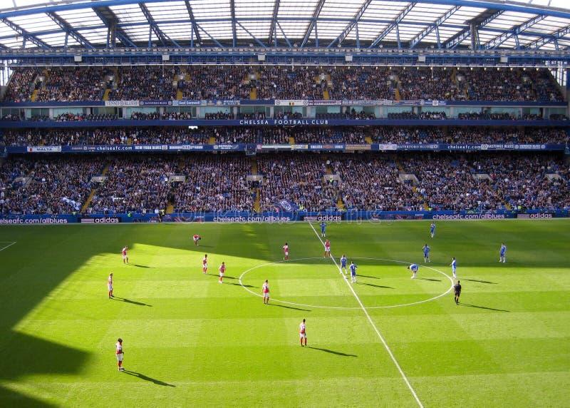 Estadio del club del balompié de Chelsea fotos de archivo