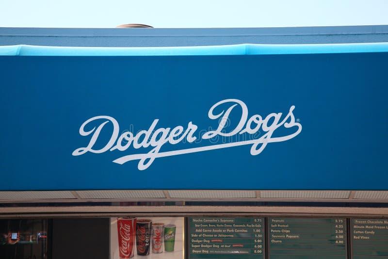 Estadio del Dodgers - Los Ángeles Dodgers imagen de archivo