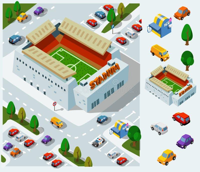 Estadio del fútbol ilustración del vector