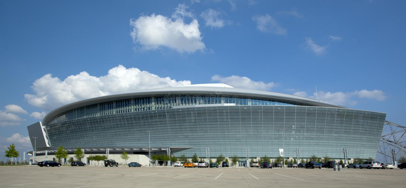Estadio del vaquero - Super Bowl 45 foto de archivo libre de regalías