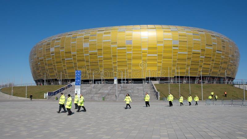 Estadio en Gdansk, Polonia fotografía de archivo