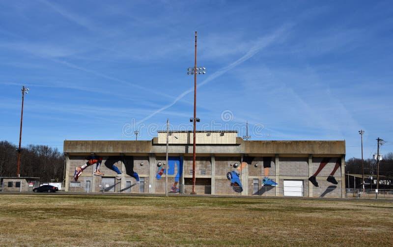 Estadio en Halle Park, Memphis, TN imagenes de archivo