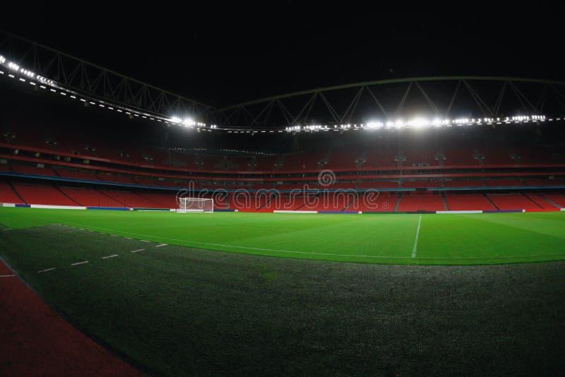 Estadio en la noche foto de archivo