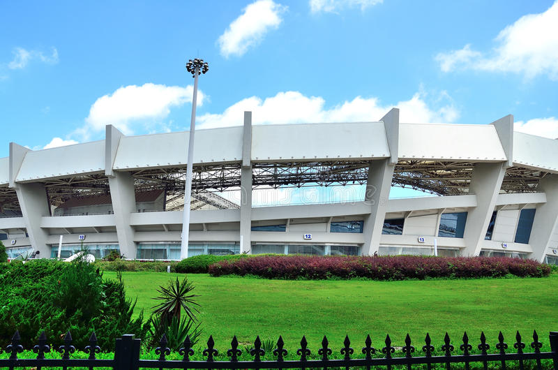 Estadio en Shangai foto de archivo