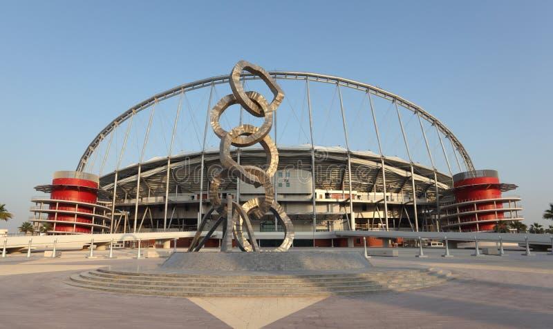 Estadio internacional de Khalifa, Doha foto de archivo libre de regalías