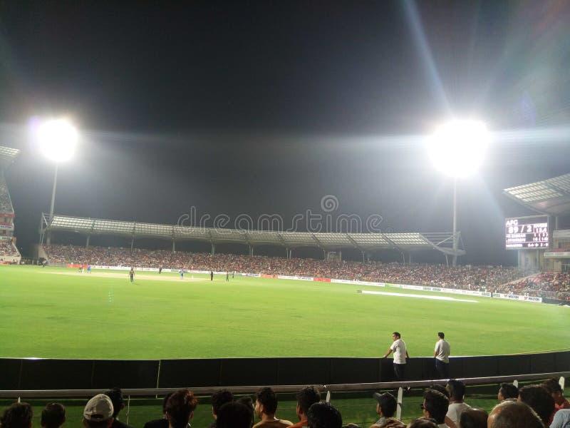 Estadio internacional del grillo de Rajiv Gandhi fotos de archivo libres de regalías