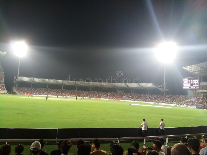 Estadio internacional del grillo de Rajiv Gandhi imagen de archivo