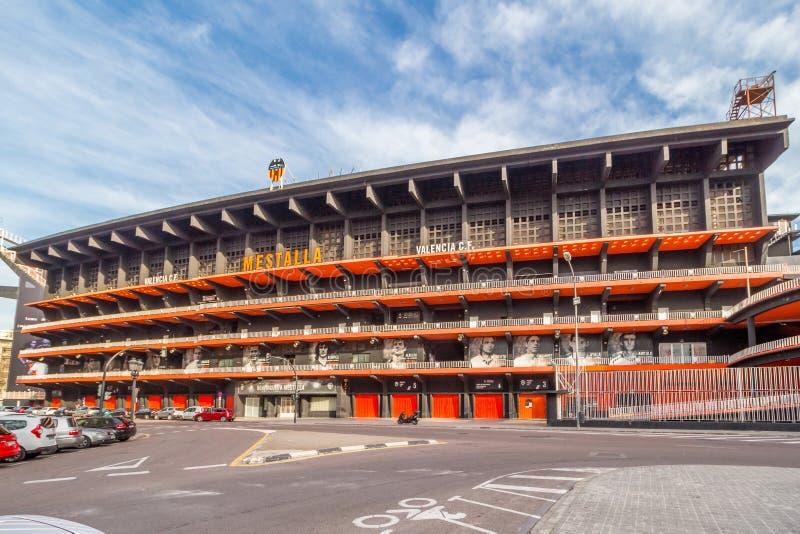 Estadio Mestalla en Valencia fotografía de archivo