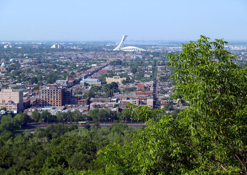 Estadio olímpico de Montreal imagen de archivo