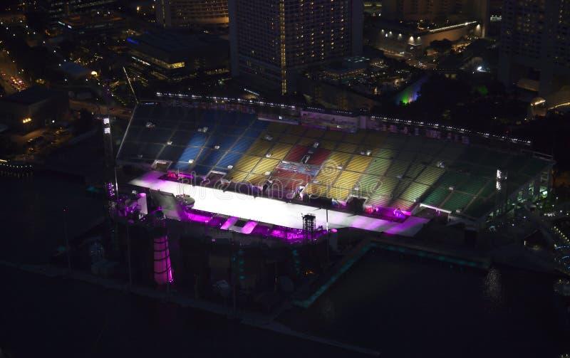 Estadio olímpico en Singapur fotografía de archivo libre de regalías