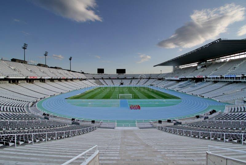 Estadio olímpico Montjuic foto de archivo