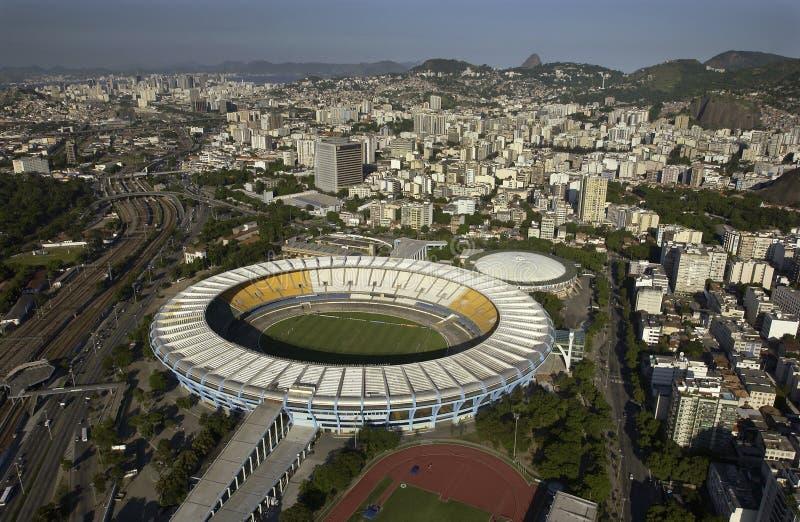 Estadio Rio De Janeiro, Brazylia - robi Maracana, Maracana stadium - zdjęcie stock