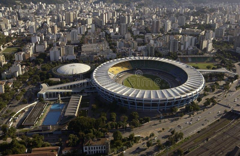Estadio Rio De Janeiro, Brazylia - robi Maracana, Maracana stadium - obraz royalty free