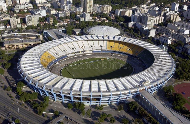 Estadio Rio De Janeiro, Brazylia - robi Maracana, Maracana stadium - fotografia royalty free