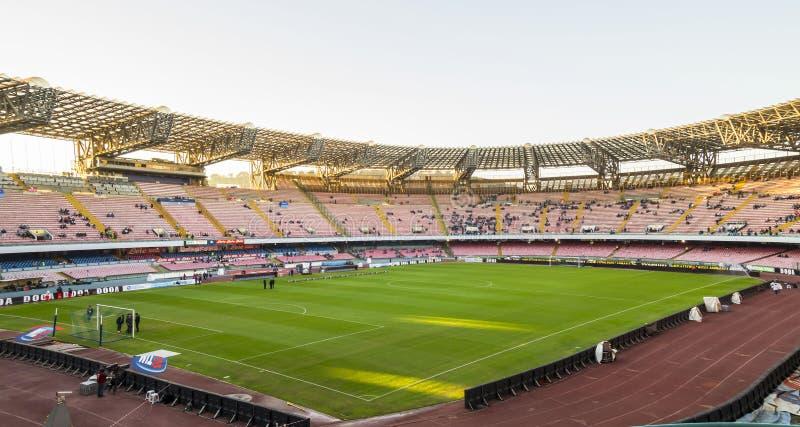 Estadio San Paolo, Napoli fotografía de archivo libre de regalías