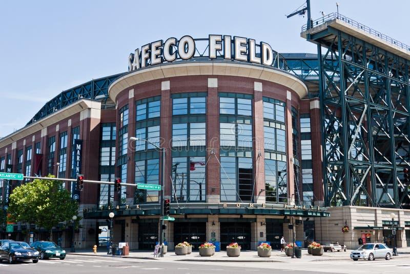 Estadio Seattle del campo de Safeco fotografía de archivo libre de regalías