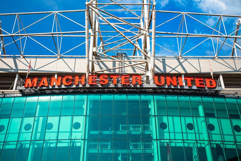 Estadio viejo de Trafford en Manchester, Reino Unido imagen de archivo