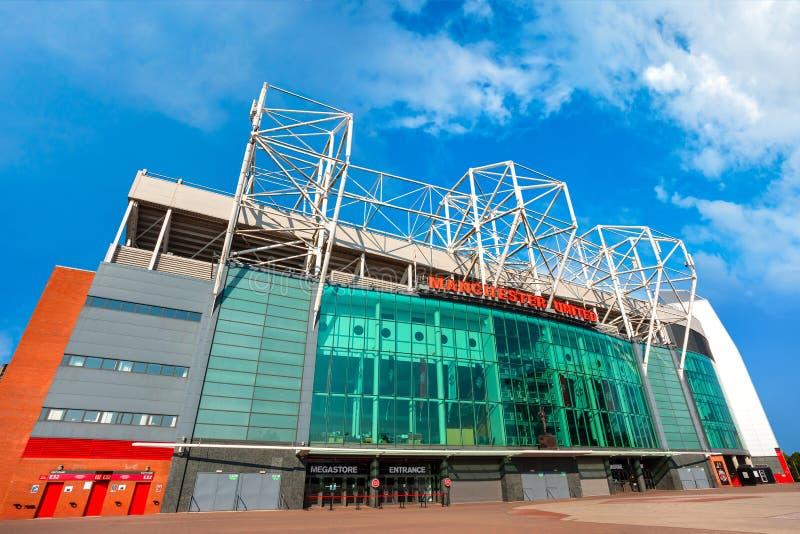 Estadio viejo de Trafford en Manchester, Reino Unido fotos de archivo