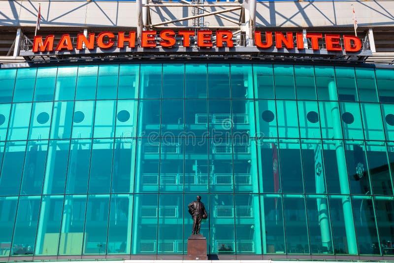 Estadio viejo de Trafford en Manchester, Reino Unido foto de archivo