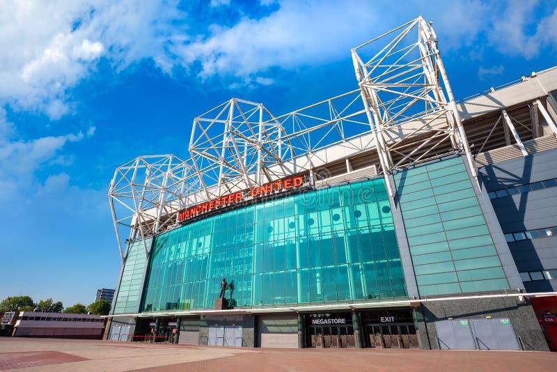 Estadio viejo de Trafford en Manchester, Reino Unido fotografía de archivo libre de regalías