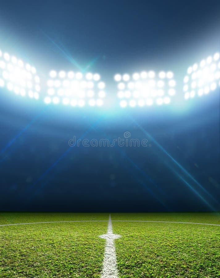 Estadio y echada del fútbol foto de archivo libre de regalías