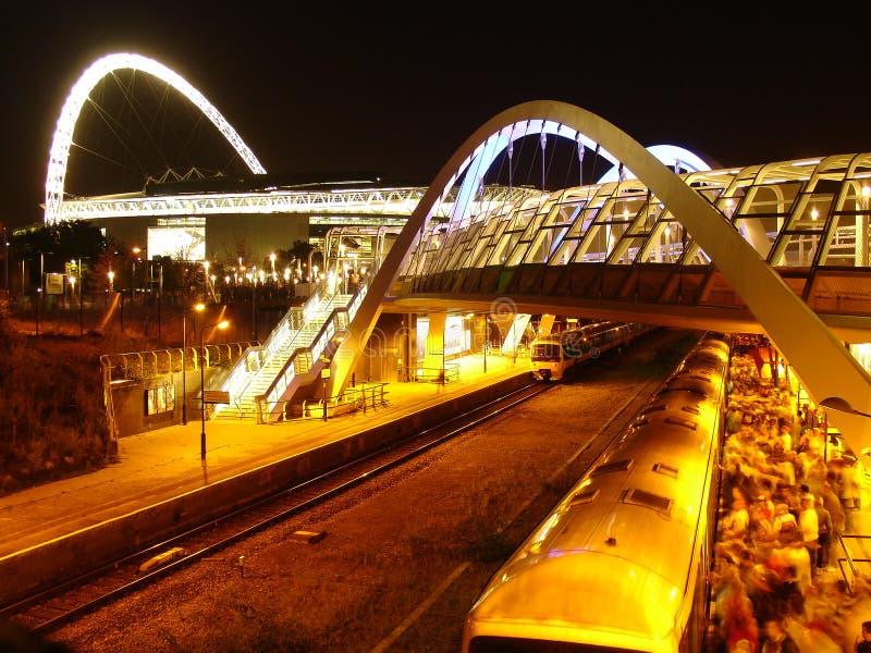 Estadio y ferrocarril de Wembley. foto de archivo libre de regalías