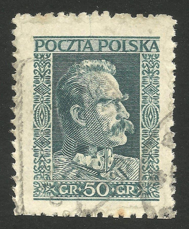 Estadistas, mariscal Pilsudski fotos de archivo