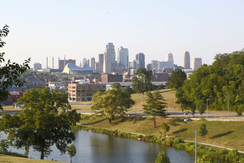 Estado agradable los E.E.U.U. de Missouri de la opinión de Kansas de la ciudad fotos de archivo libres de regalías
