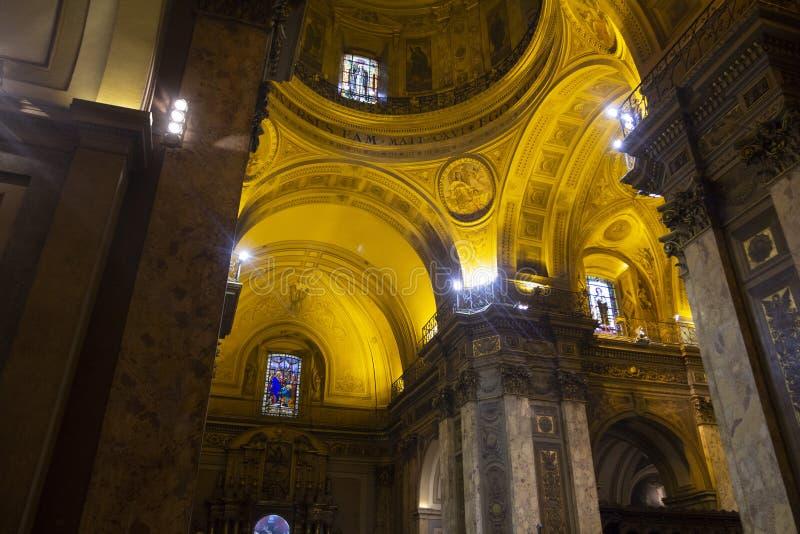 Estado Argentina 06/10/2014 de Buenos Aires Catedral metropolitana, San Martin, Buenos Aires, Argentina fotografia de stock royalty free
