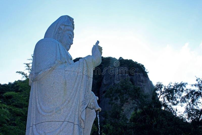 Estado da Buda de Guanyin fotografia de stock