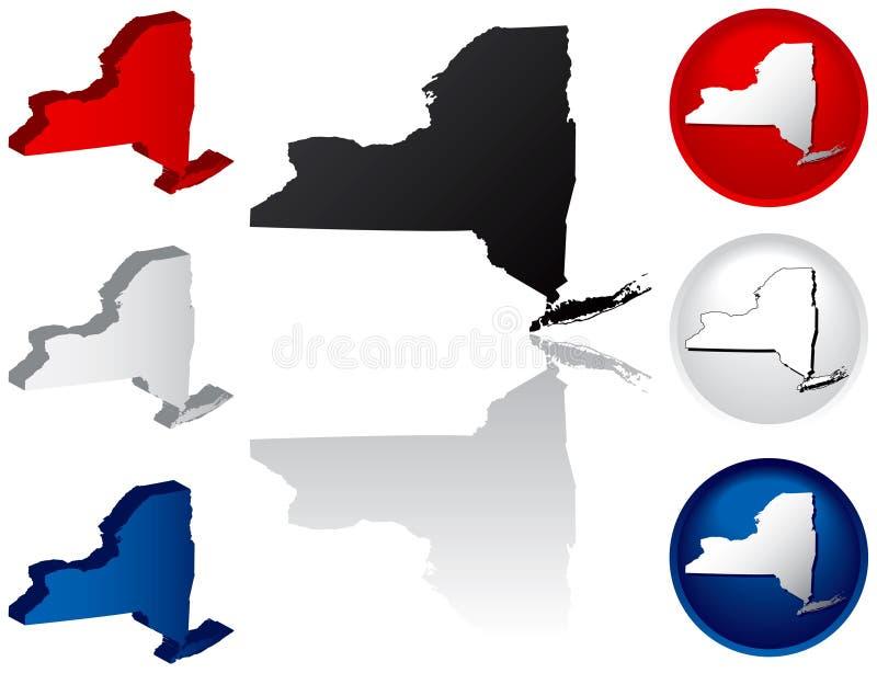Estado de ícones de New York ilustração do vetor