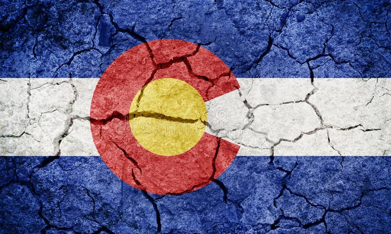 Estado de bandeira de Colorado imagens de stock