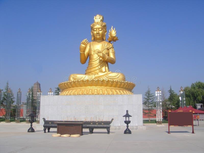 Estado de Buddha no templo de Famen imagem de stock royalty free