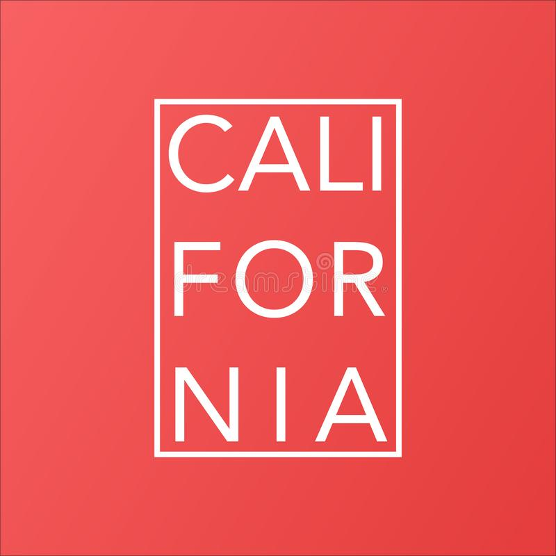 Estado de Califórnia no fundo moderno coral de vida ilustração stock