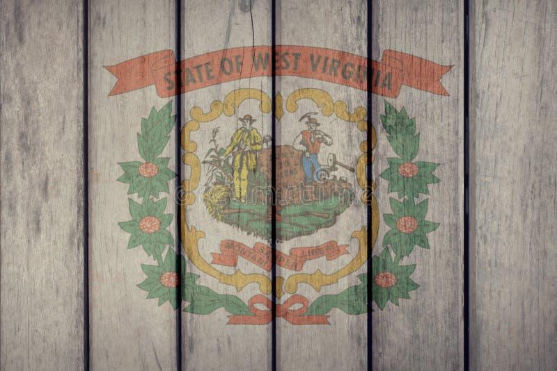Estado de E.U. Virginia Flag Wooden Fence ocidental ilustração royalty free