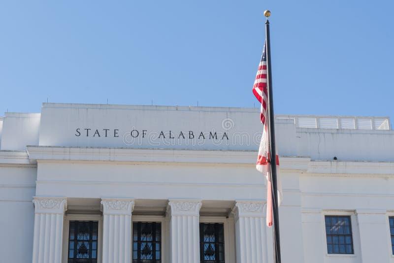 Estado de edifício de Alabama imagens de stock royalty free