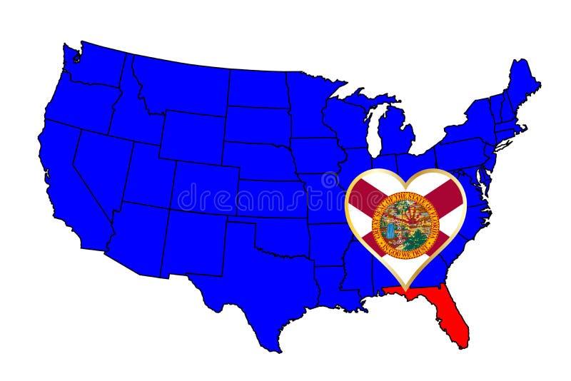 Estado de Florida ilustração royalty free