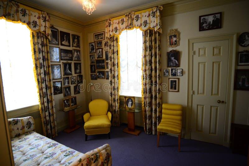 Estado de Hillwood, museo y dormitorio de los jardines foto de archivo libre de regalías