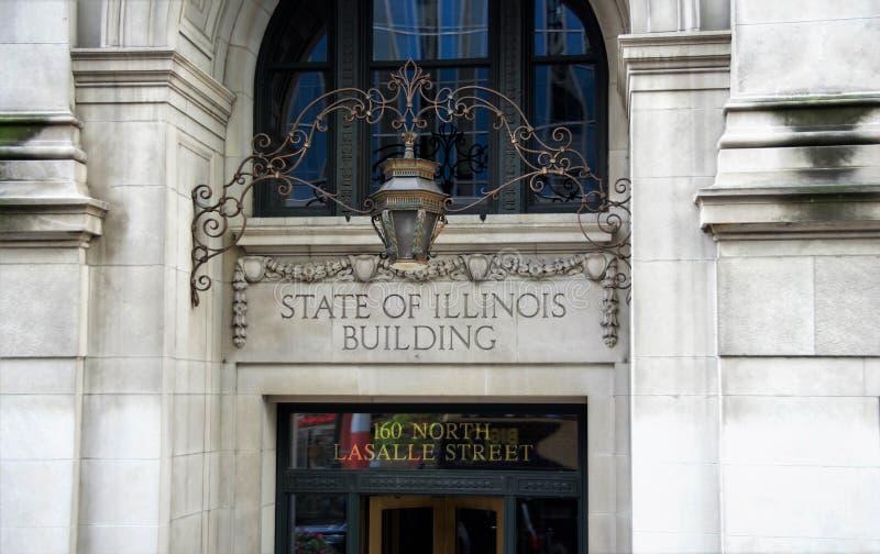 Estado de Illinois que construye Chicago, Illinois fotos de archivo