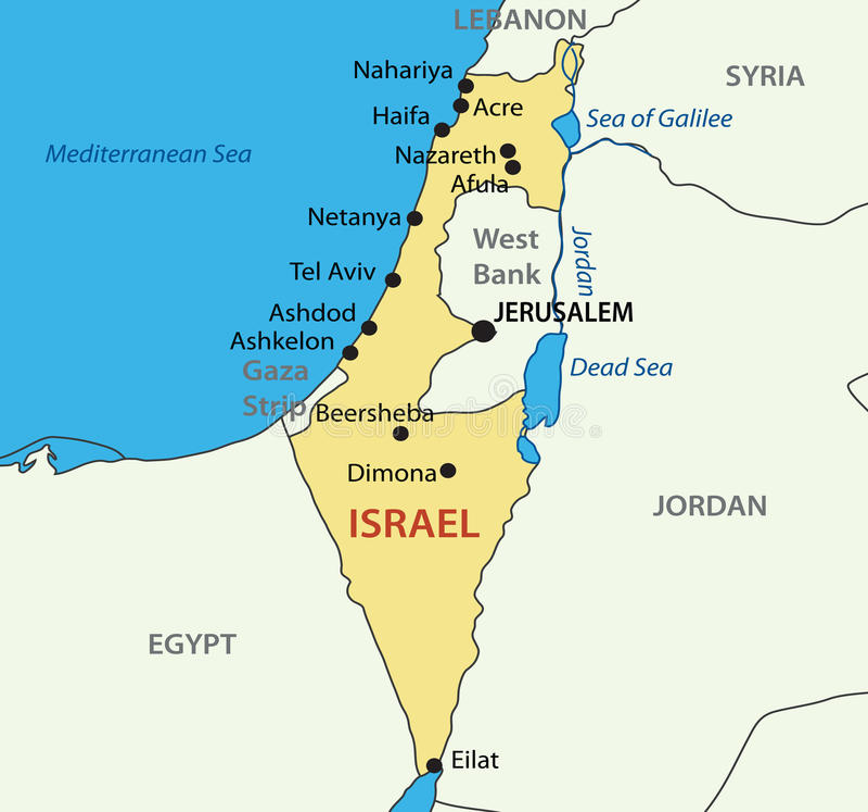 Estado de Israel - mapa ilustração do vetor