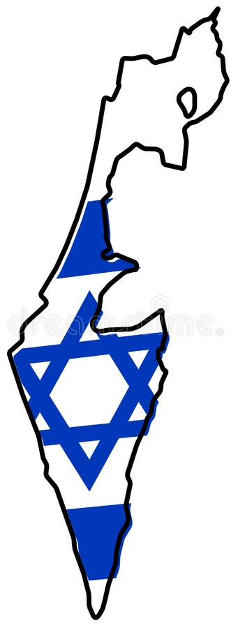 Estado de Israel sin Palestina; excepto Franja de Gaza y Wes stock de ilustración