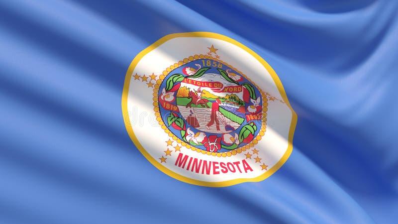 Estado de la bandera de Minnesota Indicadores de los estados de los E stock de ilustración