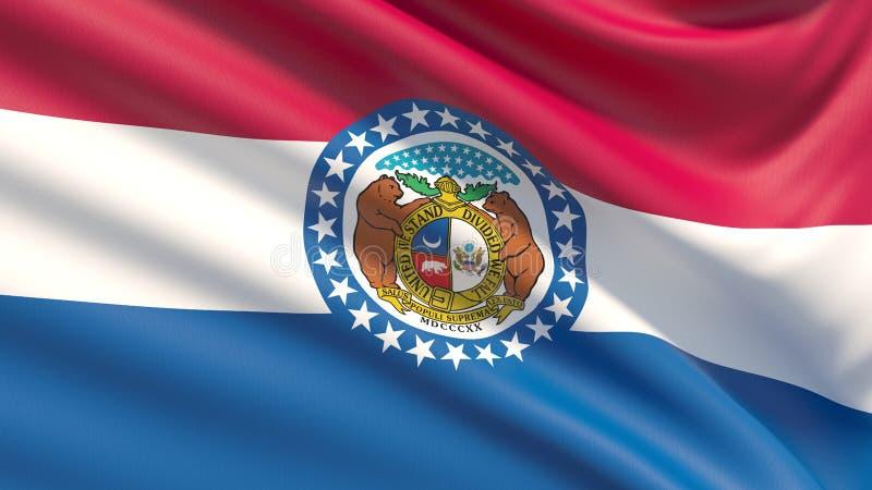 Estado de la bandera de Missouri Indicadores de los estados de los E ilustración del vector