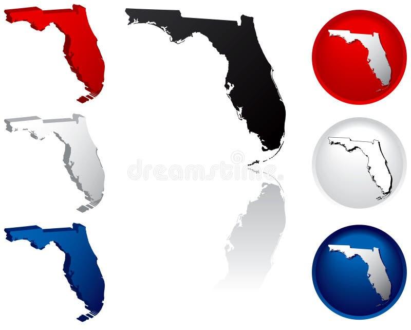 Estado de los iconos de la Florida ilustración del vector