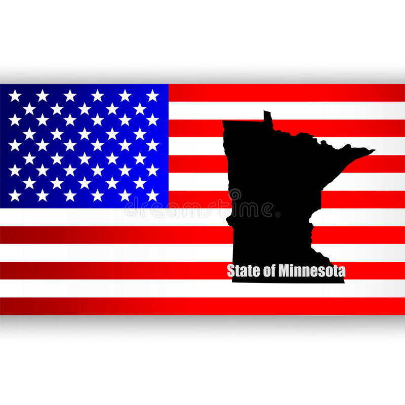 Estado de Minnesota ilustración del vector