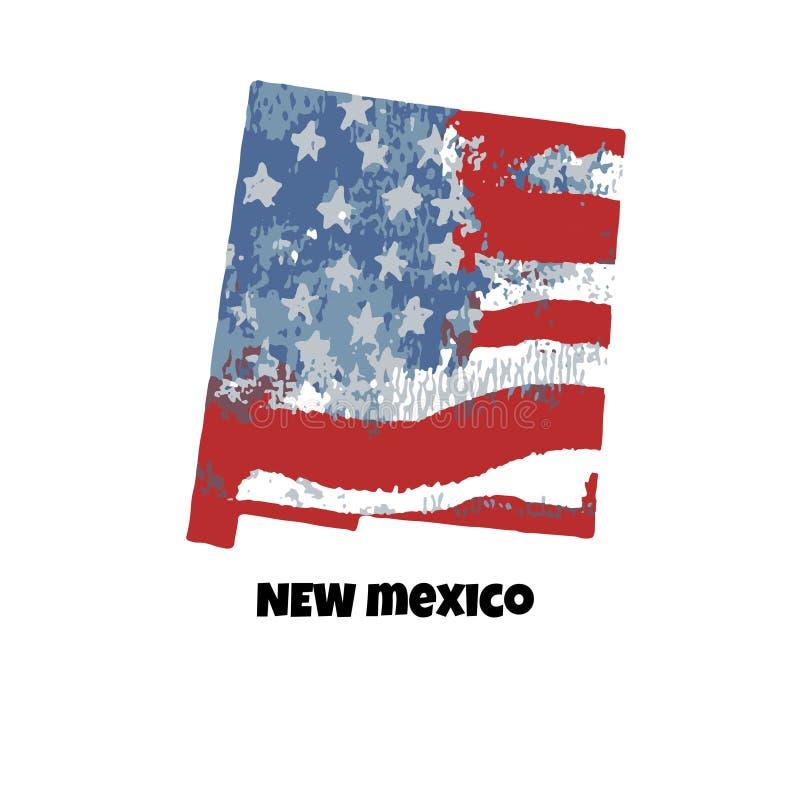 Estado de New México Los Estados Unidos de América Illustrati del vector ilustración del vector