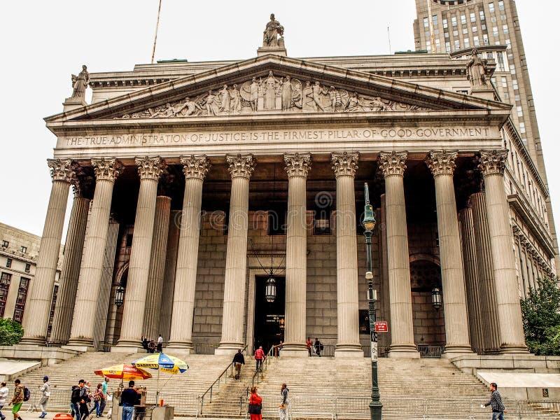 Estado de Nueva York el Tribunal Supremo de Nueva York, Estados Unidos - imagen de archivo libre de regalías