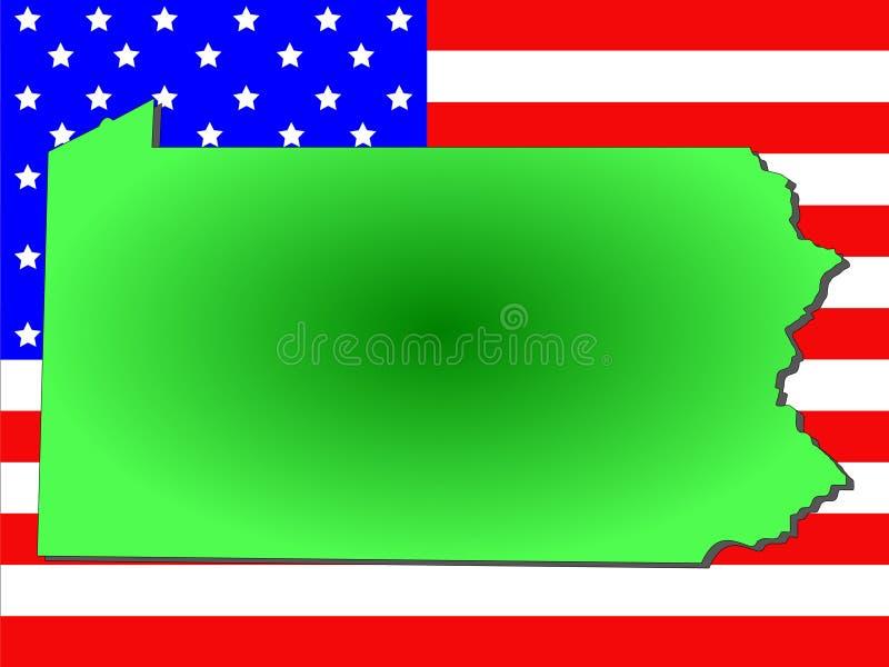 Estado de Pensilvânia ilustração royalty free