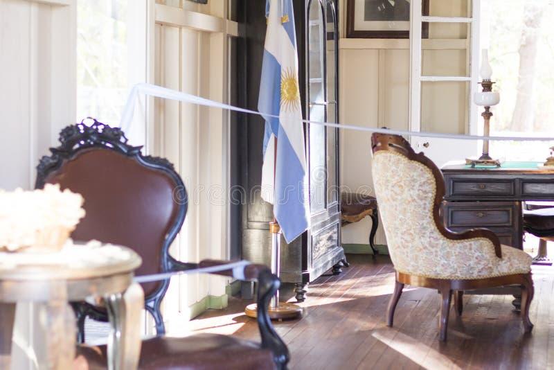 Estado de Tigre Buenos Aires/Argentina 06/18/2014 Museu da casa de Sarmiento, casa Museo Sarmiento foto de stock